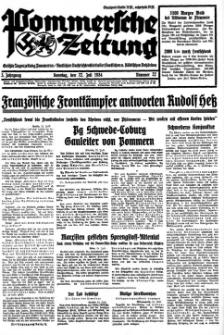 Pommersche Zeitung. Jg.3, 1934 Nr. 22