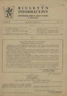 Biuletyn Informacyjny Wojewódzkiego Komitetu Kultury Fizycznej w Szczecinie. R.3, 1957 nr 14