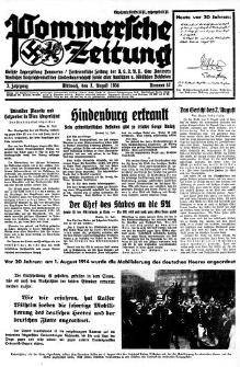 Pommersche Zeitung. Jg.3, 1934 Nr. 32
