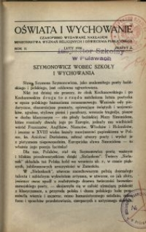 Oświata i Wychowanie. R.2, 1930 nr 2