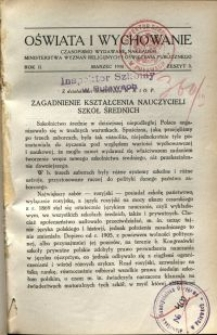Oświata i Wychowanie. R.2, 1930 nr 3