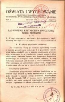 Oświata i Wychowanie. R.2, 1930 nr 4