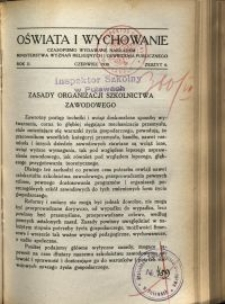 Oświata i Wychowanie. R.2, 1930 nr 6