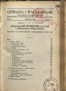 Oświata i Wychowanie. R.2, 1930 nr 7