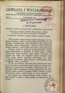 Oświata i Wychowanie. R.2, 1930 nr 8