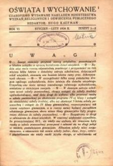 Oświata i Wychowanie. R.6, 1934 nr 1/2