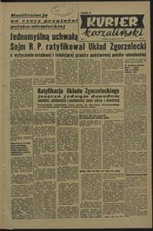 Kurier Koszaliński. 1950, październik, nr 83
