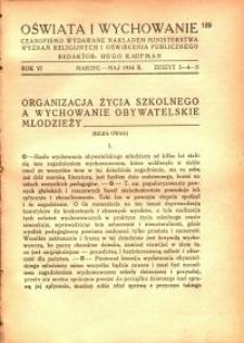 Oświata i Wychowanie. R.6, 1934 nr 3/5