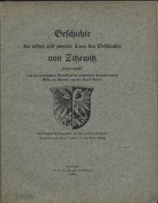 Geschichte der ersten und zweiten Linie des Geschlechts von Zitzewitz : (1313-1926) : nach dem hinterlassenen Manuskript des verstorbenen Generalleutnants Wedig von Zitzewitz, aus dem Hause Budow