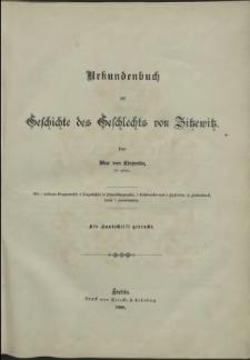 Geschichte des Geschlechts von Zitzewitz.T. 1, Urkundenbuch