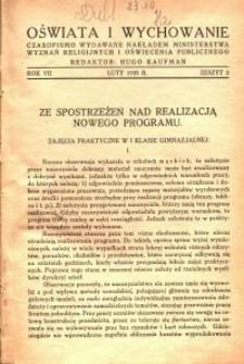 Oświata i Wychowanie. R.7, 1935 nr 2