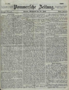 Pommersche Zeitung : organ für Politik und Provinzial-Interessen.1860 Nr. 445