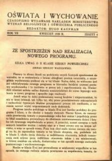 Oświata i Wychowanie. R.7, 1935 nr 4