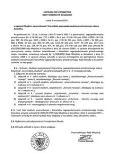 Uchwała Rady Miejskiej w Koszalinie nr LVII/666/2010
