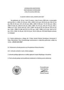 Uchwała Rady Miejskiej w Koszalinie nr LVIII/673/2010