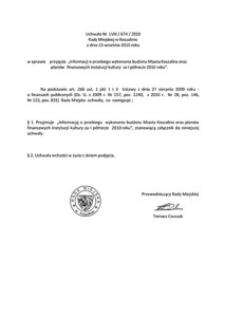 Uchwała Rady Miejskiej w Koszalinie nr LVIII/674/2010