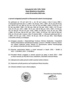 Uchwała Rady Miejskiej w Koszalinie nr LVIII/676/2010