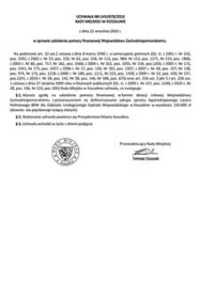 Uchwała Rady Miejskiej w Koszalinie nr LVIII/678/2010