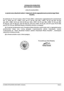 Uchwała Rady Miejskiej w Koszalinie nr LVIII/681/2010