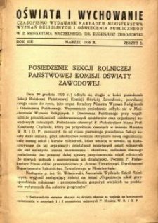 Oświata i Wychowanie. R.8, 1936 nr 3