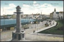 Stettin, Blick von der Hakenterrasse, Neue Brücke