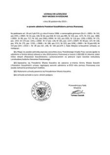 Uchwała Rady Miejskiej w Koszalinie nr LX/695/2010