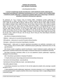 Uchwała Rady Miejskiej w Koszalinie nr LX/707/2010