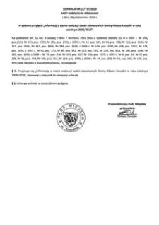 Uchwała Rady Miejskiej w Koszalinie nr LX/717/2010