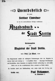 Adress- und Geschäfts-Handbuch für Stettin : nach amtlichen Quellen zusammengestellt. 1902