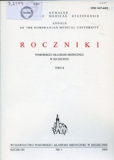 Annales Academiae Medicae Stetinensis = Roczniki Pomorskiej Akademii Medycznej w Szczecinie. 2005, 51, 1