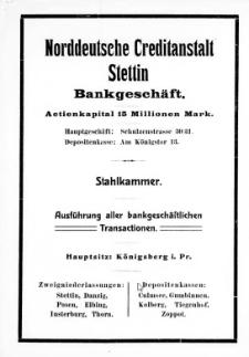 Adress- und Geschäfts-Handbuch für Stettin : nach amtlichen Quellen zusammengestellt. 1908
