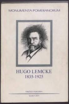 Hugo Lemcke : materiały z polsko-niemieckiego seminarium naukowego w Książnicy Pomorskiej 5 grudnia 2000