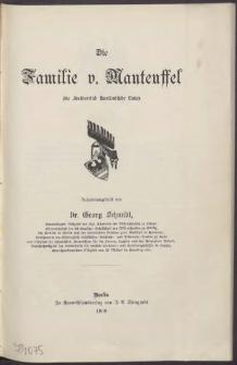 Die Familie v.[on] Manteuffel :(die Freiberrlich Kurländische Linie)