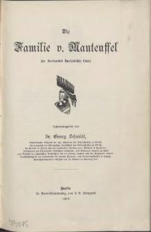 Die Familie v.[on] Manteuffel :(Stamm Polzin und Arnhausen des Pommerschen Geschlechts)