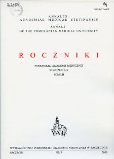 Annales Academiae Medicae Stetinensis = Roczniki Pomorskiej Akademii Medycznej w Szczecinie. 2006, 52, 3
