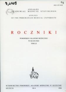 Annales Academiae Medicae Stetinensis = Roczniki Pomorskiej Akademii Medycznej w Szczecinie. 2006, 52, 4