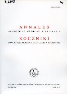 Annales Academiae Medicae Stetinensis = Roczniki Pomorskiej Akademii Medycznej w Szczecinie. 2008, 54, 3