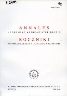 Annales Academiae Medicae Stetinensis = Roczniki Pomorskiej Akademii Medycznej w Szczecinie. 2008, 54, 4