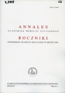 Annales Academiae Medicae Stetinensis = Roczniki Pomorskiej Akademii Medycznej w Szczecinie. 2009, 55, 1