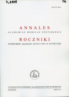 Annales Academiae Medicae Stetinensis = Roczniki Pomorskiej Akademii Medycznej w Szczecinie. 2009, 55, 2