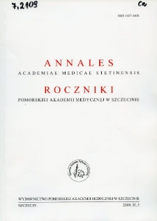 Annales Academiae Medicae Stetinensis = Roczniki Pomorskiej Akademii Medycznej w Szczecinie. 2009, 55, 3