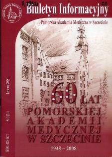 Biuletyn Informacyjny : Pomorska Akademia Medyczna w Szczecinie. Nr 3 (61), Listopad 2008