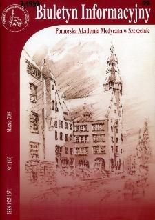Biuletyn Informacyjny : Pomorska Akademia Medyczna w Szczecinie. Nr 1 (63), Marzec 2009