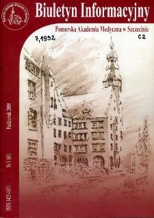 Biuletyn Informacyjny : Pomorska Akademia Medyczna w Szczecinie. Nr 3 (65), Październik 2009