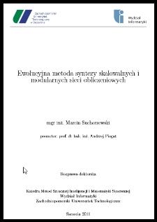 Ewolucyjna metoda syntezy skalowalnych i modularnych sieci obliczeniowych