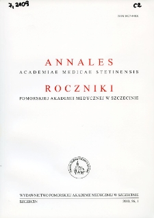 Annales Academiae Medicae Stetinensis = Roczniki Pomorskiej Akademii Medycznej w Szczecinie. 2010, 56, 1