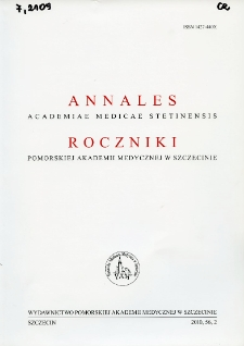 Annales Academiae Medicae Stetinensis = Roczniki Pomorskiej Akademii Medycznej w Szczecinie. 2010, 56, 2