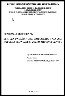 Synteza i właściwości biodegradowalnych kopoliestrów alifatyczno-aromatycznych