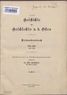 Geschichte des Geschlechts v. d. Osten : Urkundenbuch. Bd. 1, 1200-1400