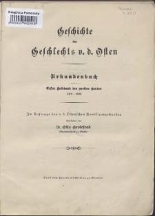 Geschichte des Geschlechts v. d. Osten :Urkundenbuch. Bd. 2, Hlbd. 1,1401-1500
